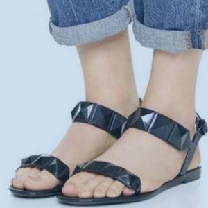 Rebecca Minkoff Black Jana Jelly Sandals, size 7